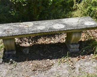 208. KENNETH LYNCH Concrete Garden Bench