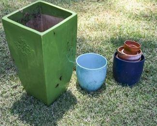211. Lot Glazed Ceramic Planters