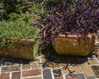 221. Two TerraCotta Planters
