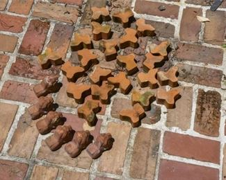 222. Group of TerraCotta Planter Feet