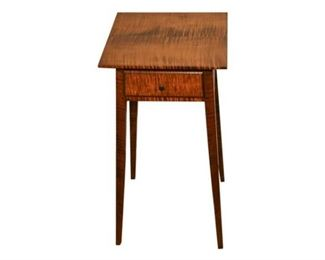 233. David Le Forte Cabinet Made Single Drawer Federal Style Stand