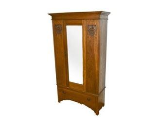 236. Single Door Art Nouveau Wardrobe Cabinet