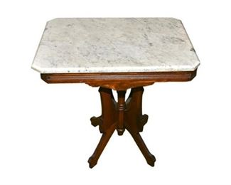 246. Victorian Marble Top Parlor Table