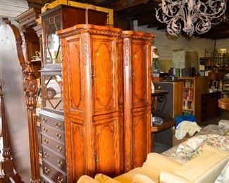 Cabinets matching vanity