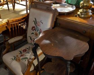 Chairs antique with needlepoint