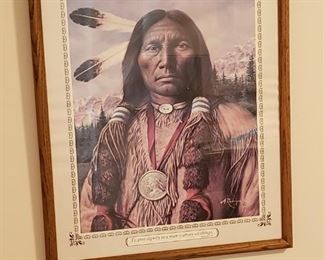 Beautiful Native American Indian print.