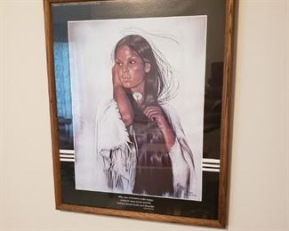Native American Indian framed art