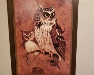 Didn't everyone grow up with one of these????  MCM owl print on board.