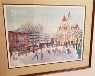 St. Paul ice skating framed print