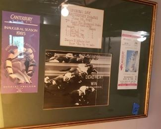 Canterbury Downs framed memorabilia