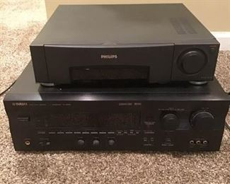 Philips VHS Player and Yamaha Natural Sound and AVReceiver           https://ctbids.com/#!/description/share/157099