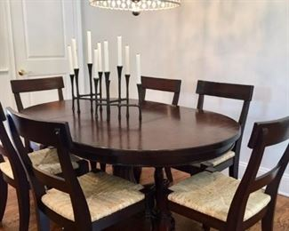 Pottery Barn Oval Table and 6 Chairs