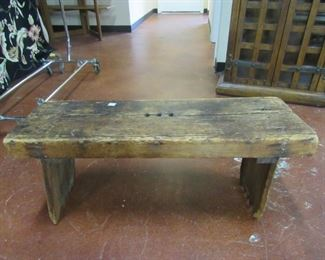 Antique country pine bench