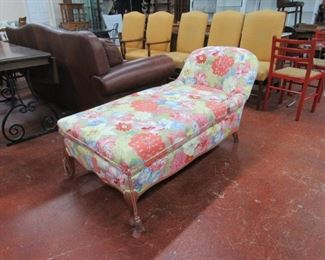 Floral chaise lounger