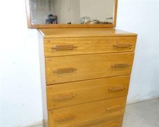Heywood Wakefield Dresser Mirror Combo