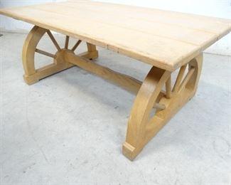 Wagon Wheel Wooden Coffee Table