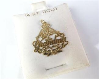 14K Grandma Pendant Necklace