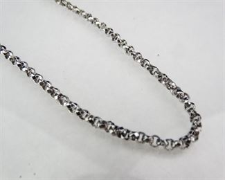 28 Sterlng Silver Rolo Cable Necklace Chain