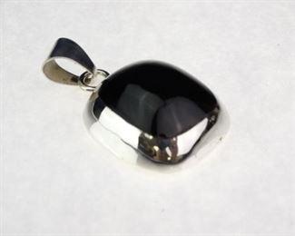 925 Sterling Silver Black Onyx pendant