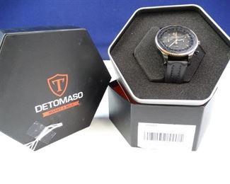 DeTomaso Firenze Mens Sport Watch, Brown