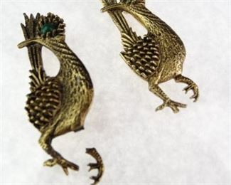 BrassColored Peacock Pins
