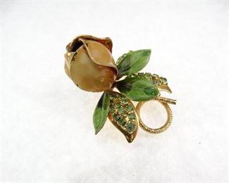 Metal Rose Brooch Pin