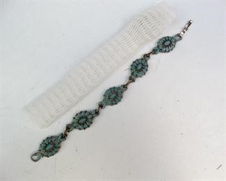 Vintage Turquoise Tennis Bracelet