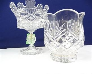 Fine Crystal Biscuit Bowl Ice Chiller
