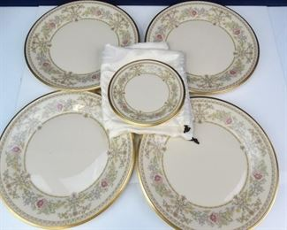Lenox China Plates with Castle Garden Pattern