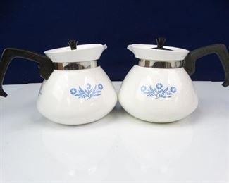 Vintage Glass Corning Coffee Pots
