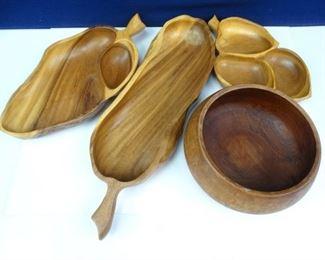 Vintage Wooden Serving Platters