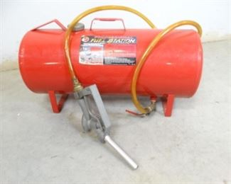 Professional Gas Fuel Station with Attached Pump