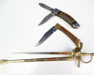 Rapier Letter Opener Vintage Folding Pocket Knives