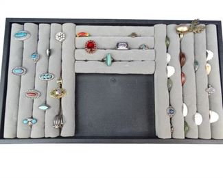 Vintage Ring Collection w Padded Ring Display Box