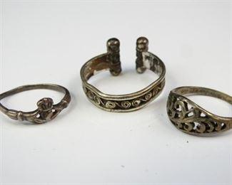 VintageAntique Sterling Knotwork Rings
