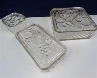 Federal Glass Vegetables Refrigerator Dishes