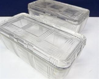 Vintage Pressed Glass Food Dishes