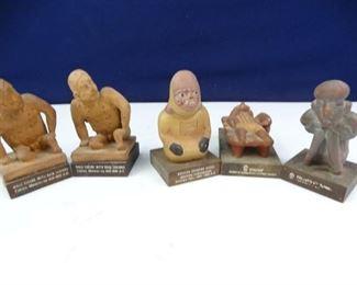 1960s Schering Pharmaceuticals PreColumbian Medical Statues Set