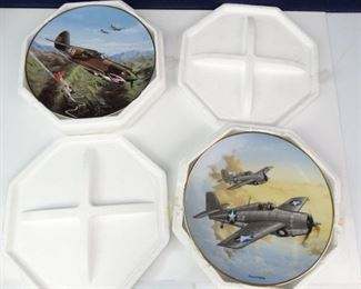Collectors WW2 Fighter Plane Plates