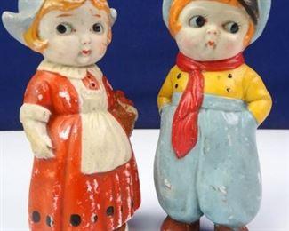 Porcelain Japanese Bisque Dolls
