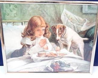 Vintage Child in Prayer Print