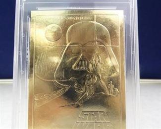 Hank Aaron 23KT Gold Card