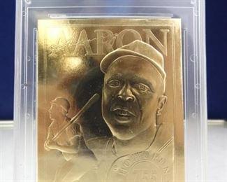 Star Wars 23KT Gold Card