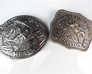 Vintage 1988 National Finals Rodeo Participant Belt Buckle