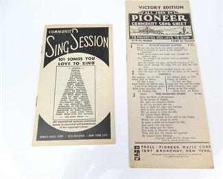 Vintage Song Sheet Set