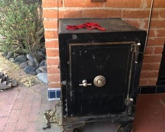 One of many antique floor safes.