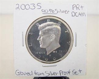 90% Silver 2003-S High Grade KennedyHalf DollarProof