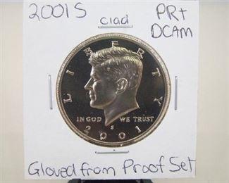 Clad 2001-S High Grade KennedyHalf DollarProof