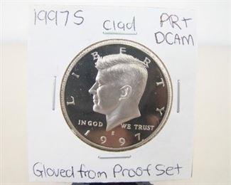 Clad 1997-S High Grade KennedyHalf DollarProof