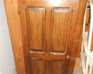ANTIQUE  SMALL CLOSED PINE CUPBOARD